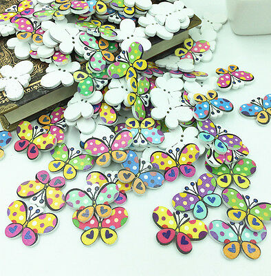 FREE Butterfly Wooden Buttons 2 Holes Fit Sewing and Scrapbook 30x20mm](Wooden Butterfly)