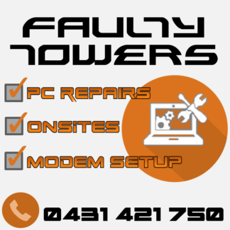 Faulty Towers Computer Repairs. Greenbank Logan Area Preview