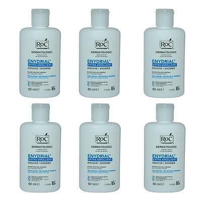 6 x RoC Enydrial Extra Emollient Rich Shower Cream Gel 60ml wholesale job lot uk