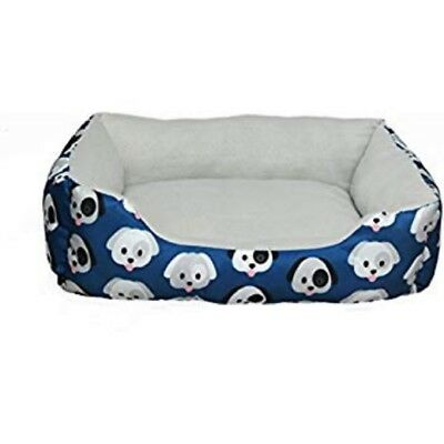Hollypet Plush Dog Bed Rectangle Warm Pet Bed, Creative Pattern Design
