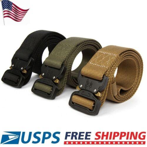 "49"" X 1.7"" Men Tactical Buckle Belt Military Nylon Training"