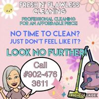 Professional cleaning for an affordable price!