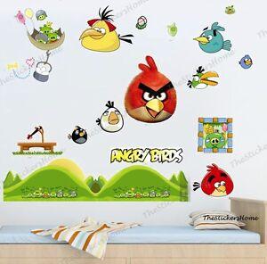 Angry Birds Wall Stickers Kids Nursery Decor Game Room