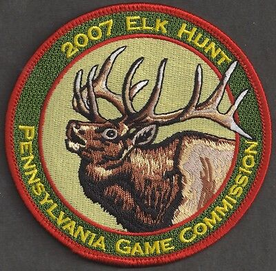 "Pa Pennsylvania Game Fish Commission NEW 4/"" Wilderness Editions 2006 Deer Patch"