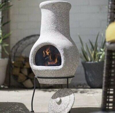 La hacienda Wela stone effectchimenea / log burner / patio heater NEW