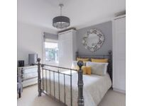 Chrome Pewter Double Bed