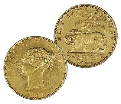 Click now to see the BUY IT NOW Price! BRITISH INDIA 1841 VICTORIA GOLD MOHUR CONTINOUS LEGEND IN AU