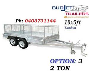 TRAILER HIRE RENTAL BRISBANE QLD 10 x 5 FT 2t CAGED FROM $85 P/D