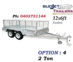 TRAILER HIRE RENTAL BRISBANE QLD 12 x 6 FT 2t CAGED FROM $85 P/D