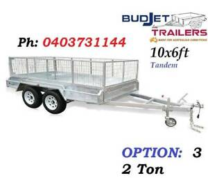TRAILER HIRE RENTAL BRISBANE QLD 10 x 6 FT 2t CAGED FROM $85 P/D