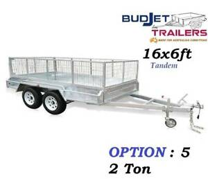 TRAILER HIRE RENTAL BRISBANE QLD 16 x 6 FT  CAGED FROM $90 P/D  T