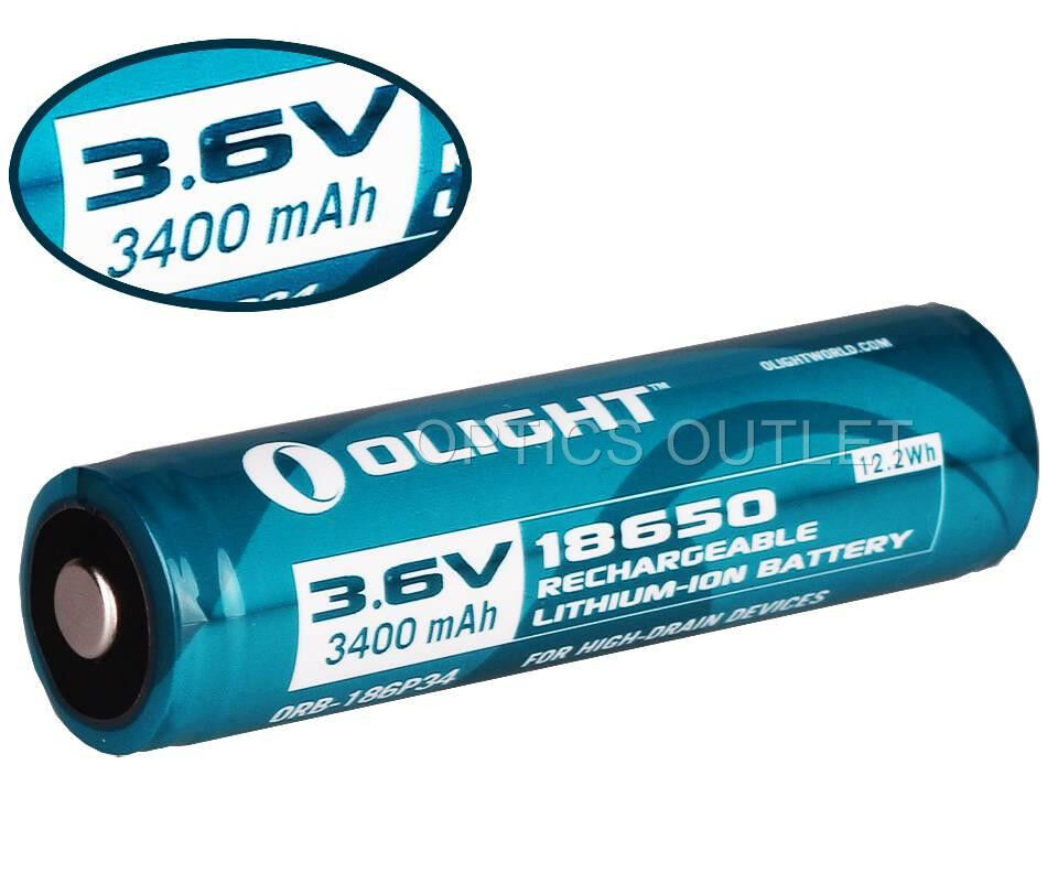 Olight Protected 3400mAh 18650 Rechargeable Battery for M22