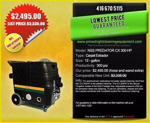 300PSI!! NSS Predator *Heated Carpet Extractor* - Priced Right!