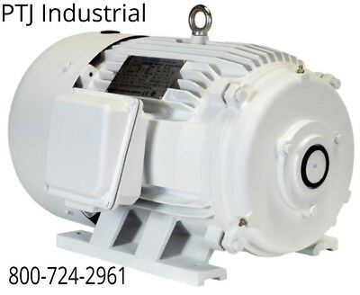 20 Hp Electric Motor For Rotary Phase Converter 256t Tefc 208-230460 No Shaft
