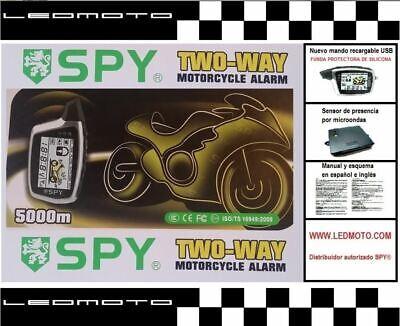 Alarma de moto SPY5000M con módulo sensor de presencia por microondas