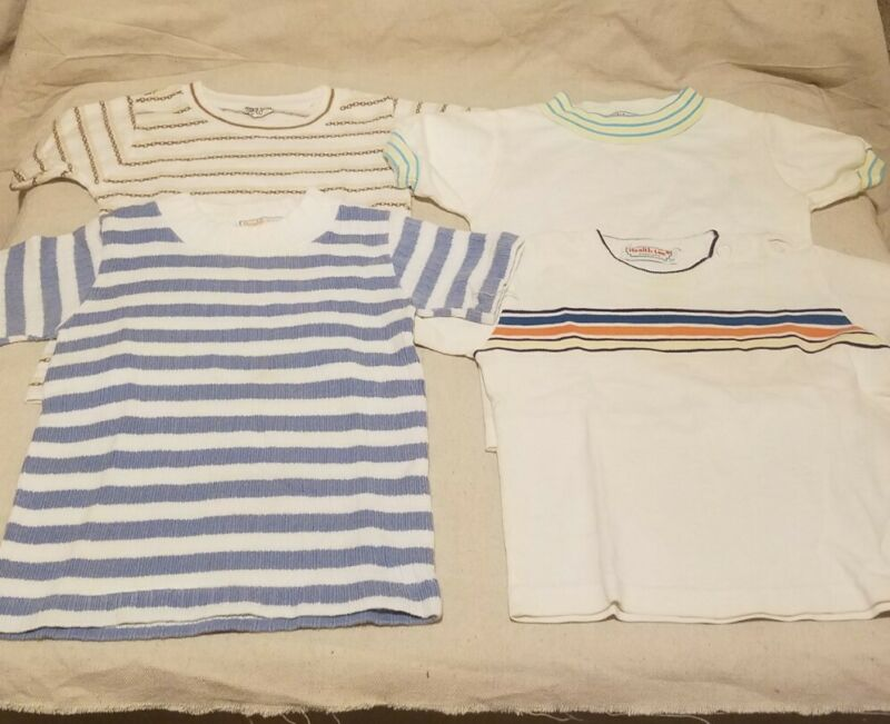 Vintage 1970s 80s Health Tex T Shirts Lot Of 4 24 Months