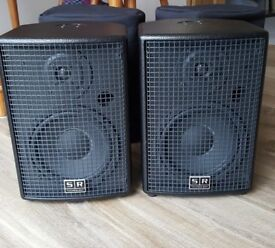 SR Technology MON-X Monitors - Active Speaker With Passive Box - Black 180w rms - Inc Padded Bags