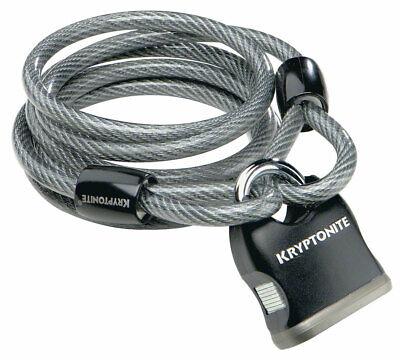 """Kryptonite 210412 KryptoFlex Black 5/16"""" x 60""""  Looped Cable"""