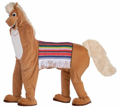 Two Man Person Brown Horse Costume for 2 Parade Party Mascot Adult Halloween - 2 Person Costume