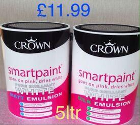 Crown 5ltr pure brilliant white paint