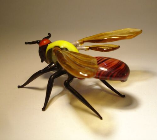 """Blown Glass """"Murano"""" Art Animal Figurine Insect  GIANT Bee WASP"""