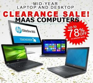 Downtown Sale - Laptops From $99 -DELL / HP / LENOVO LAPTOP - Intel C2D,i3,i5,i7 - Windows 7/8/10 - Clearance Sale