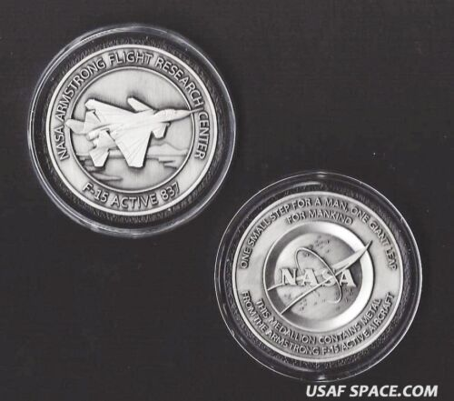 F-15 - ARMSTRONG NASA DRYDEN F-15 Aircraft FLOWN Metal COIN / MEDALLION USAF