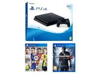 Playstation 4 Slim 500Gb FIFA 17, Uncharted 4 and Last of Us