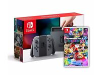 Nintendo Switch Grey Console with Mario Kart 8 Deluexe
