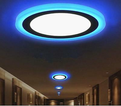 3 Mode Ultra thin Dual Color LED Recessed Ceiling Panel Down Light Lamp 85V-265V Contemporary Ceiling Lighting