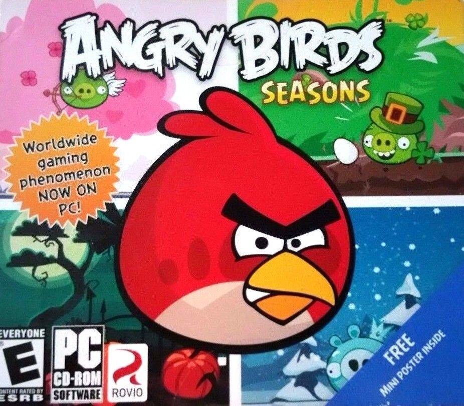 Computer Games - Angry Birds Seasons PC Games Windows 10 8 7 XP Computer angry birds puzzle NEW