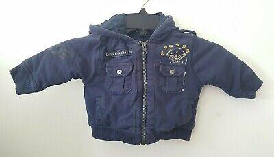 Calvin Klein Baby Boys Jacket 6/9M 6 9 Months - Blue Aviator Eagle