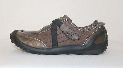 (PRIVO by CLARKS Bronze Brown Leather Women's Sport Flats Shoes Size 6 M )