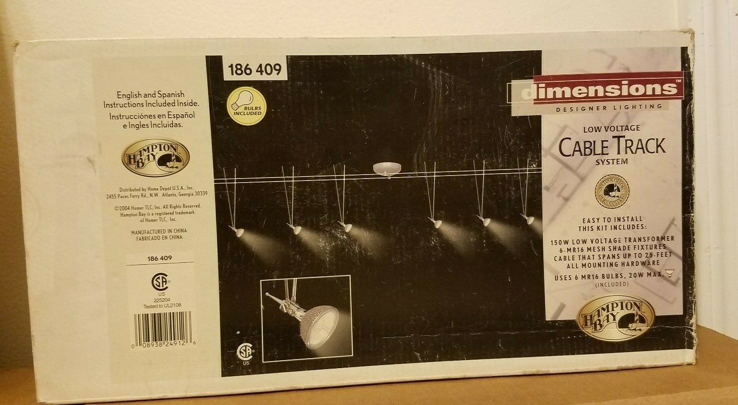 NEW Hampton Bay Dimensions Low Voltage 25 foot Cable Track S