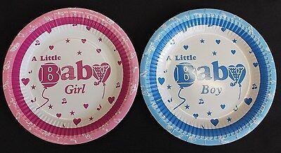 Christening Paper Plates (Baby girl/boy paper plates decorative baby shower, christening party plates)