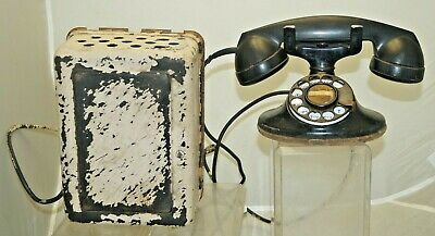 Vintage 1920s Bell System Western Electric Rotary Cradle Telephone - With Ringer