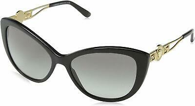 NEW Versace Sunglasses VE4295 GB1/11 57mm Black-Gold / Grey Gradient Lens