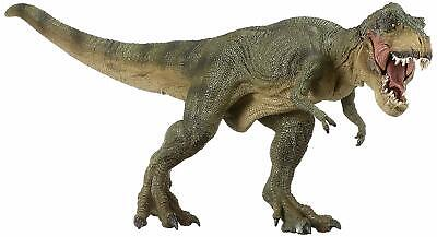 Detailed Paint The Dinosaur Figure Green Running Large T-Rex Toy for Kids