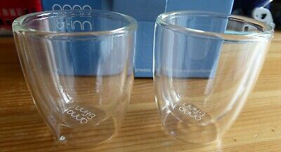 Anna&Finn doppelwandige Kaffegläser für Espresso 80ml, neu und OVP