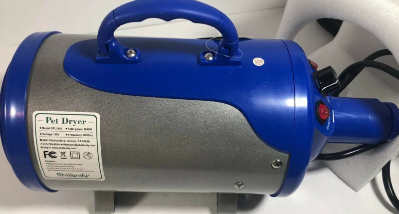 Shelandy 3.2HP Stepless Blower With Heater Blue. Return Item