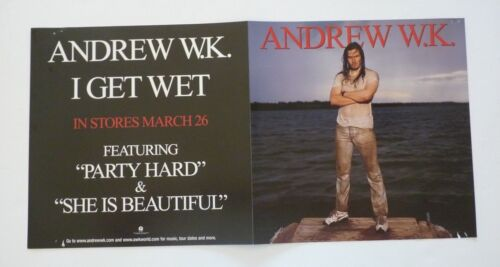 Andrew W.K. I Get Wet LP Record Photo Flat 12x24 Poster