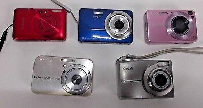 Sony Kodak Easyshare - 5 DIGITAL CAMERAS KODAK EASYSHARE SONY CYBERSHOT CANON POWERSHOT AS IS