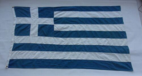 GREECE GREEK VINTAGE COTTON FLAG BY ILIAS KOKKONIS 1.32 X 0.77cm