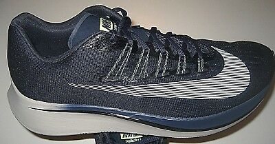 reputable site 54a79 d253f Nike Mens Zoom Fly Running Shoes Obsidian Blue White Neutral Size 11 880848  405