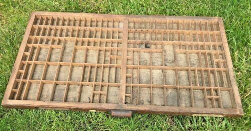 Old Hamilton Wood Type Drawer Shadowbox Display Case Printers Tray (B)