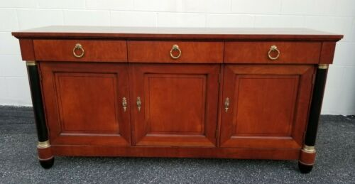 Baker Furniture Cherry Neoclassical Sideboard Server Credenza Stunning Piece