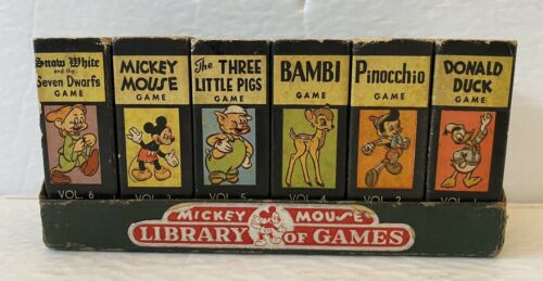 Vintage Mickey Mouse 1946 Library of Games 6 Cards Sets