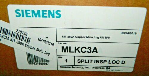 NEW Siemens MLKC3A Panel Board Main Lug Kit, 250A, Copper, 6 - 350MCM, 3PH