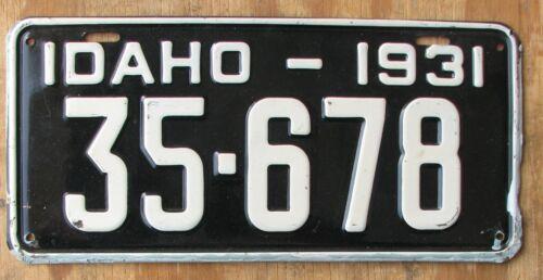 1931 IDAHO license plate  - ORIGINAL  1931   35-678