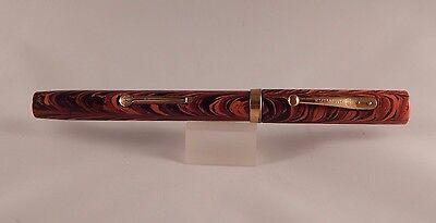 RRHR Red Ripple Waterman 52 Fountain Pen - 14k Super Flex No. 2 Nib